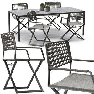 3D regista chair set model