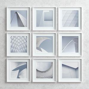 picture frames set -5 3D model