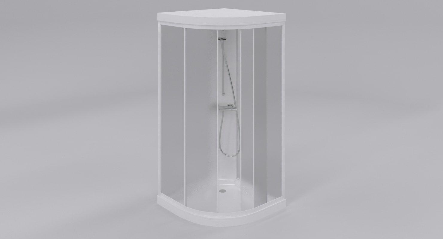 3D shower cabin model