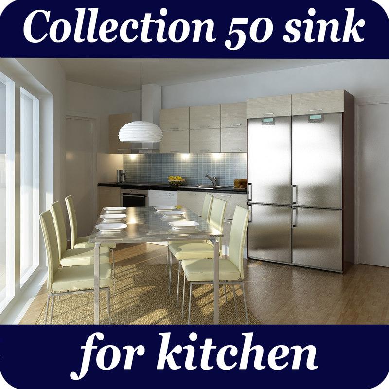 50 sink kitchen 3D