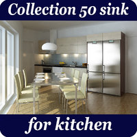 50 sink kitchen 3D