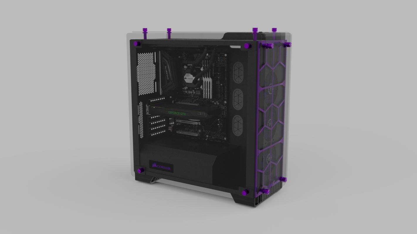 gaming computer 3D model