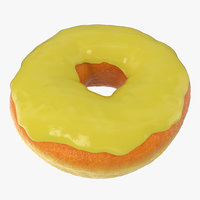 yellow donut 3D