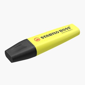 yellow highlighter pen model
