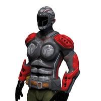 3D sci fi soldier