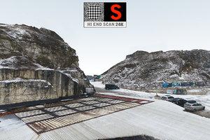 3D mega winter cliff -quarry