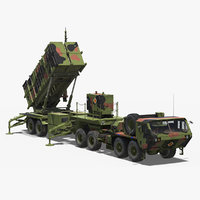 MIM-104 Patriot Surface to Air Missile SAM Battle Position 3D Model