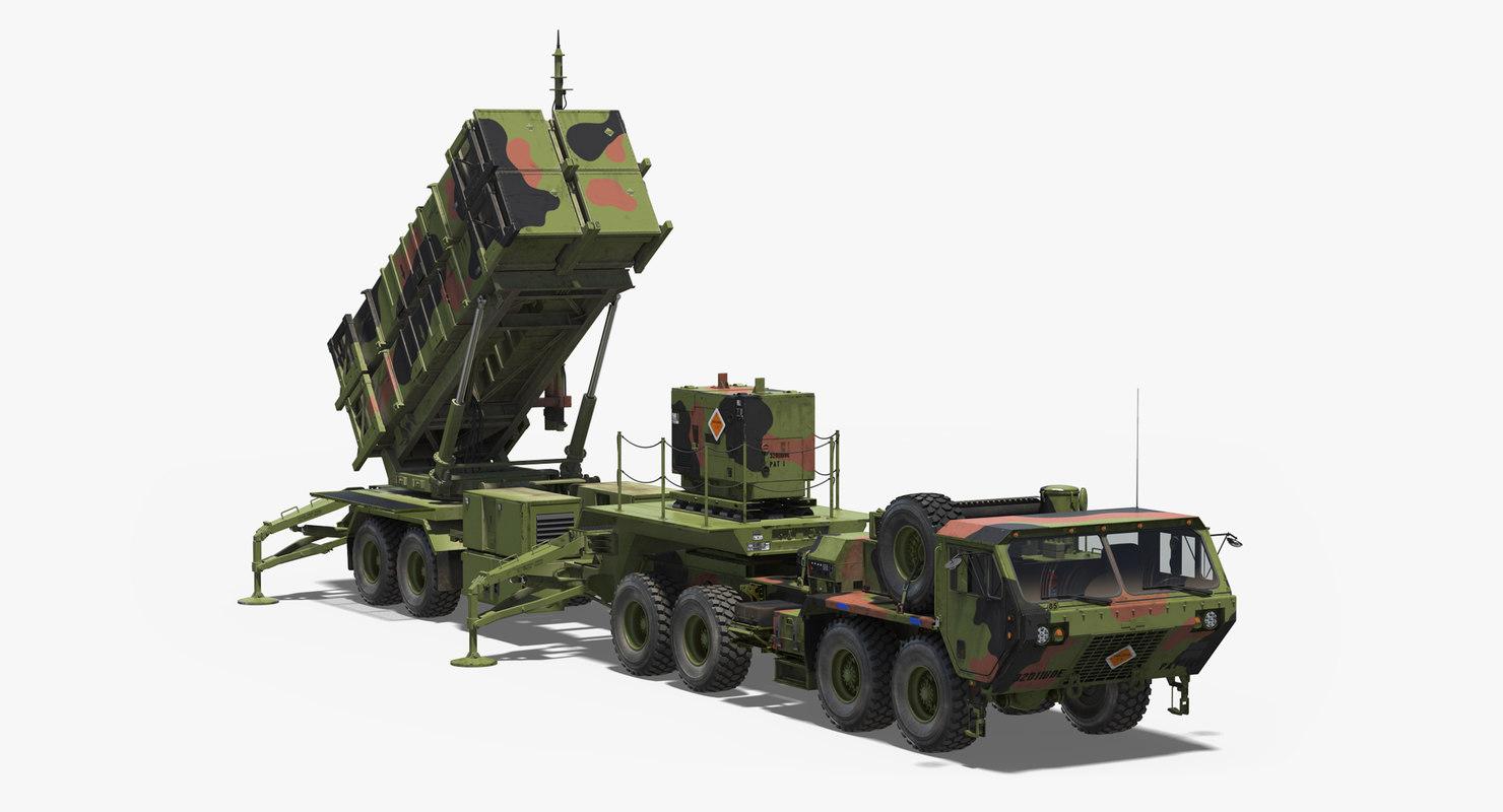 3D mim-104 patriot surface air missile