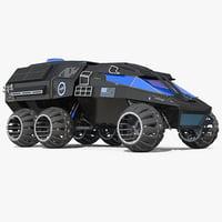 NASA Futuristic Mars Rover Concept Simple Interior