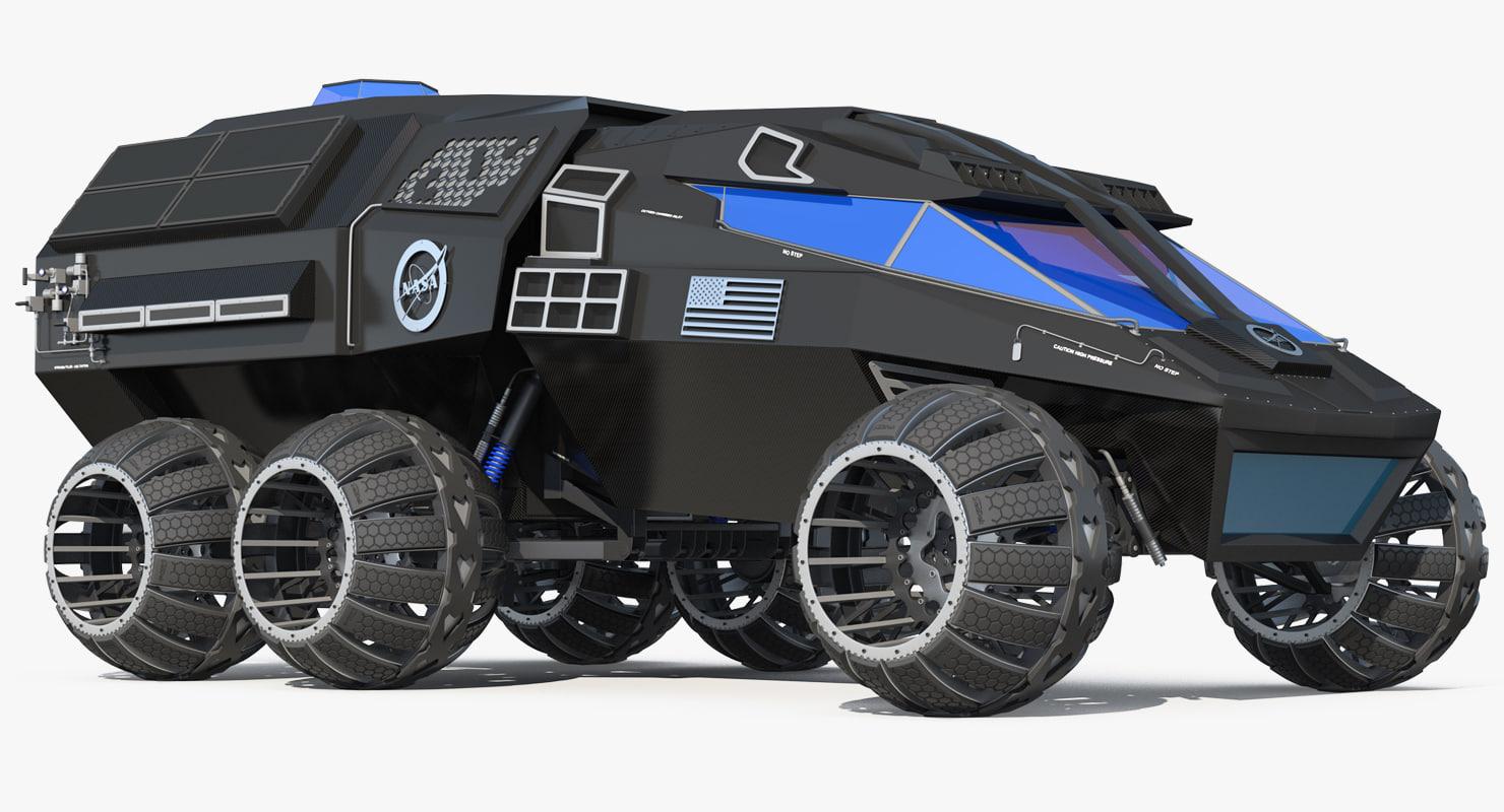 nasa futuristic mars rover 3D model