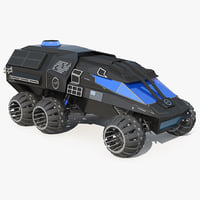 nasa futuristic mars rover 3D model