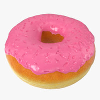 pink donut 3D model