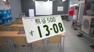 3D japanese license plate