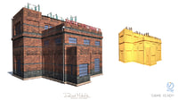 electricity factory 3D model