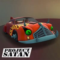 3D futurama car project satan