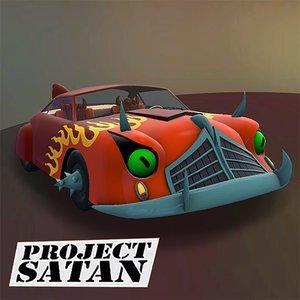 3D futurama car project satan