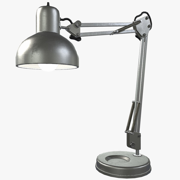 3d vintage desk lamp lighting model
