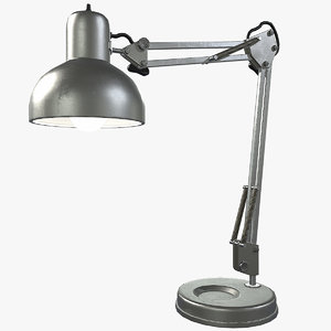 3d vintage desk lamp lighting model