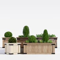 rustic barnwood planter model