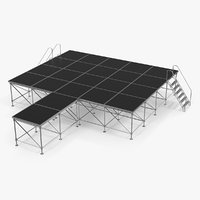 adjustable modular concert stage model