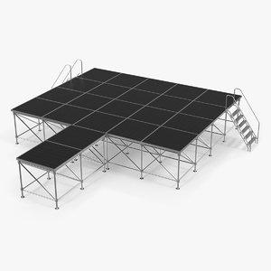 adjustable modular concert stage model