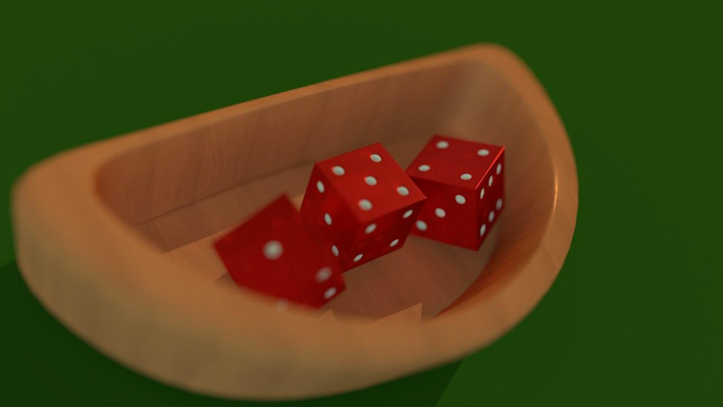 3D casino dices