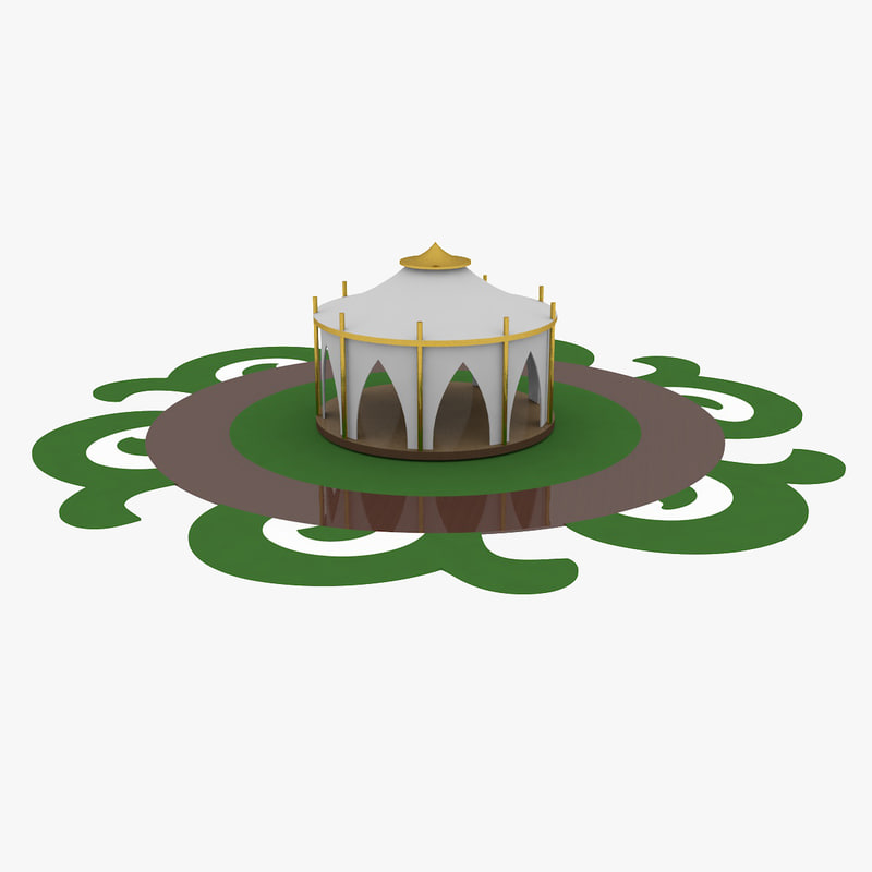 3D mongolian yurt