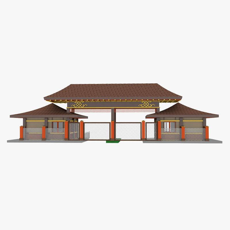 mongolian gates 3D model