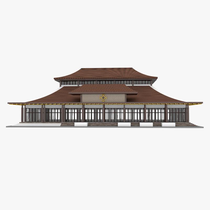 3D model mongolian building 1