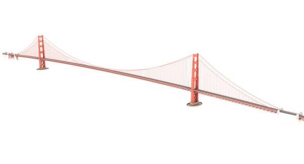 3D golden gate bridge