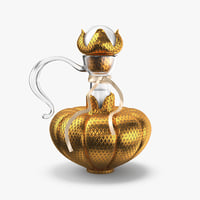 bottle gold 3D model