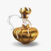bottle gold 3D model