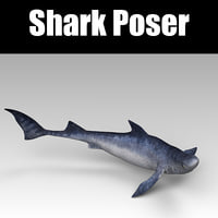 3D poser shark model