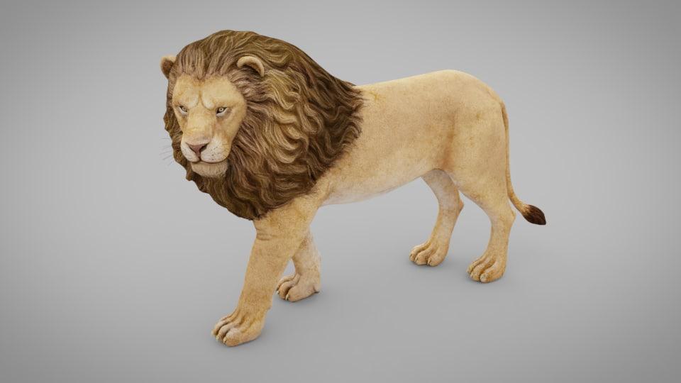 animal lion model
