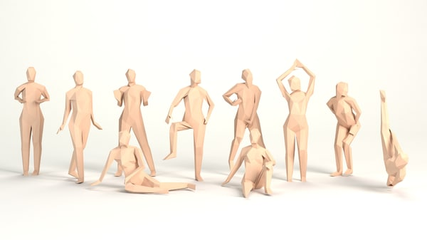 3D model poised women erotically