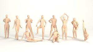 3D model poised women erotically