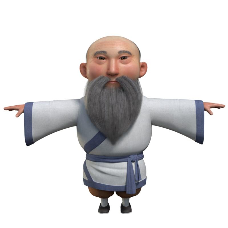 man old oldman 3D model