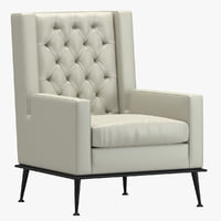 3D usonahome armchair model