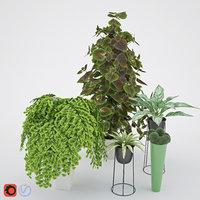 3D pot ornamental model