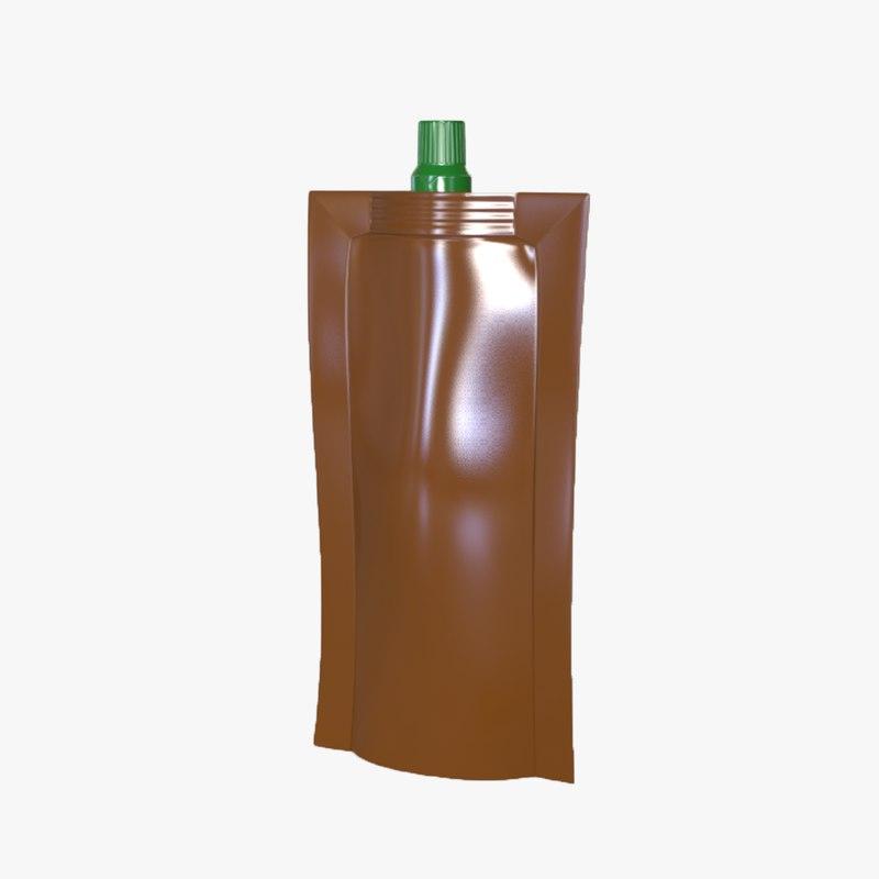 doypack packaging 3D model