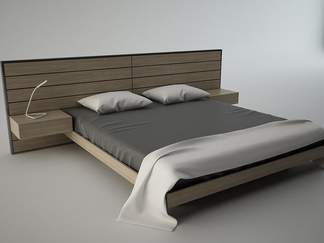3D bed modern