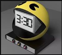 3D model pacman alarm clock