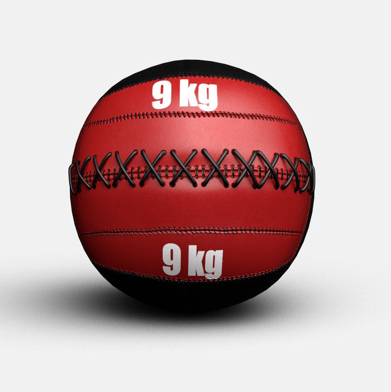 crossfit wallball ball 3D
