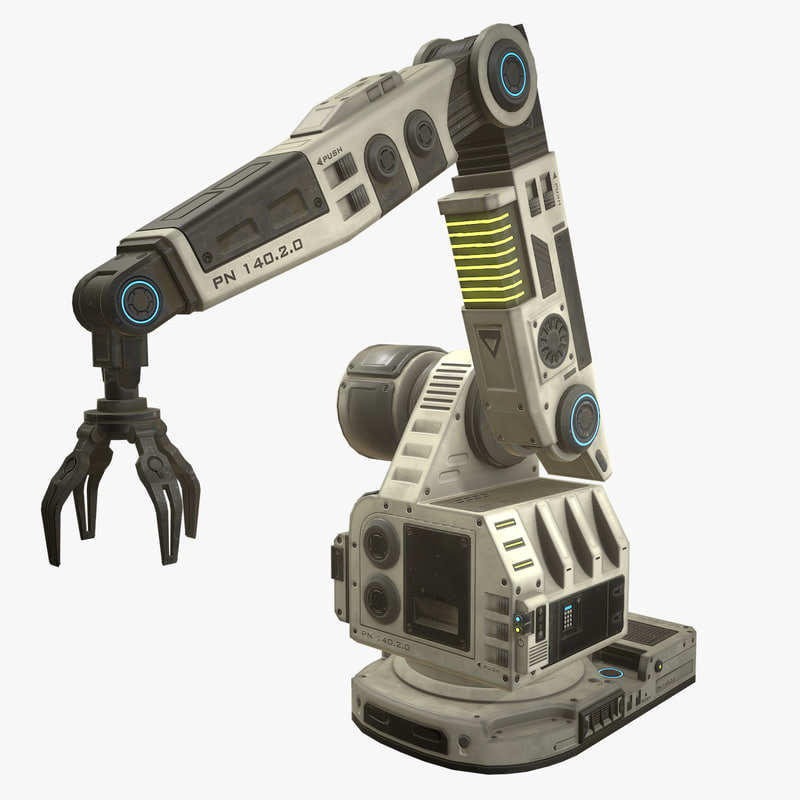 3D futuristic robotic arm