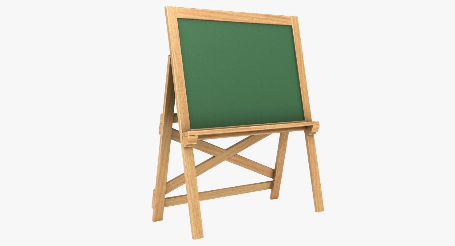 3D chalkboard 03 model