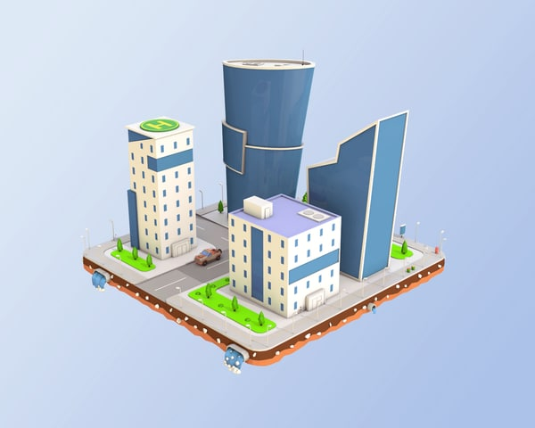 city block business center 3D