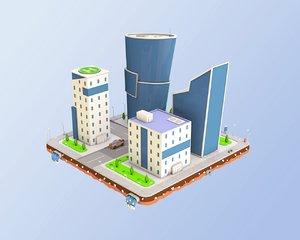 city block business center 3D