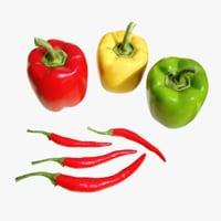 4k pepper 3D model