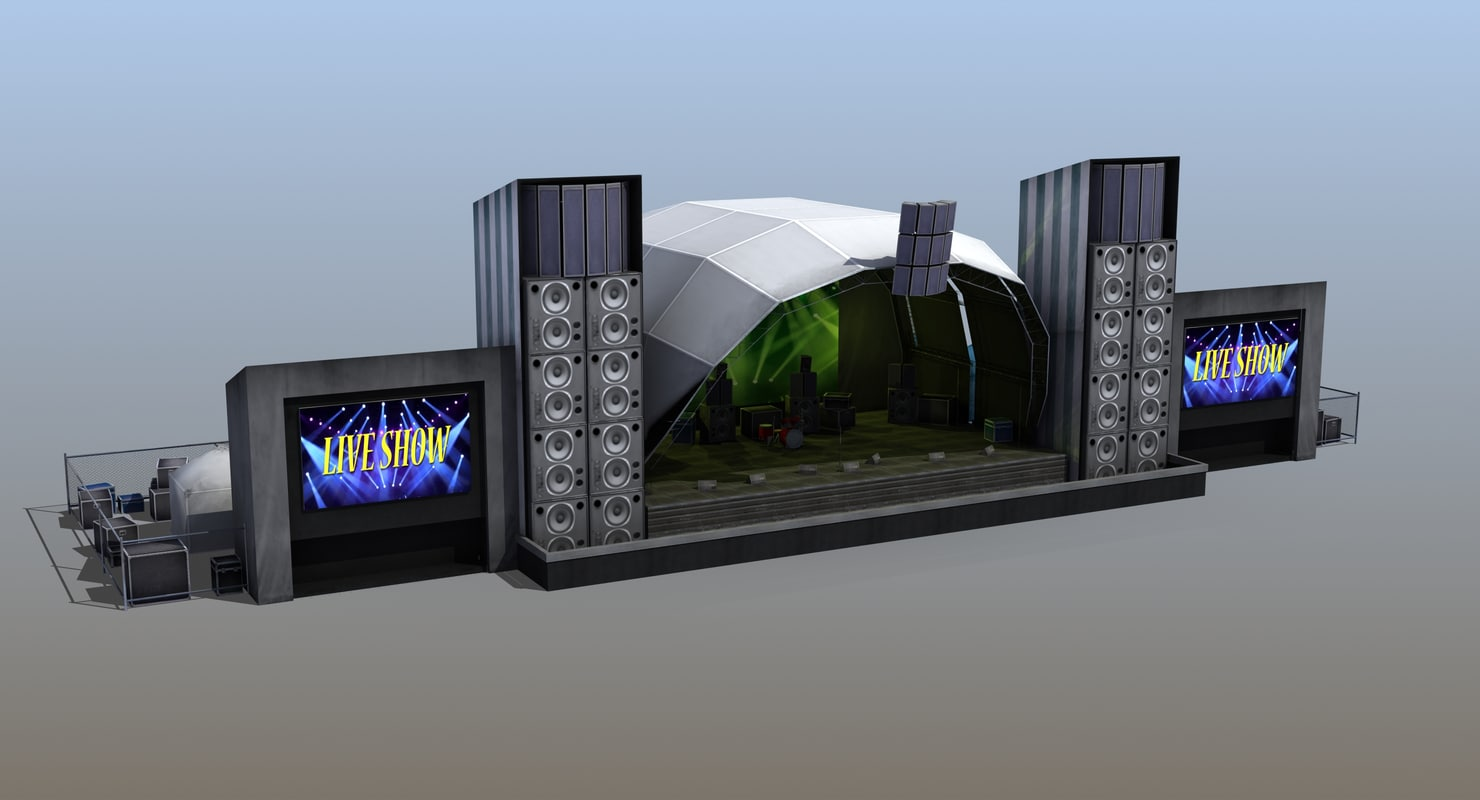 large music stage 3D model