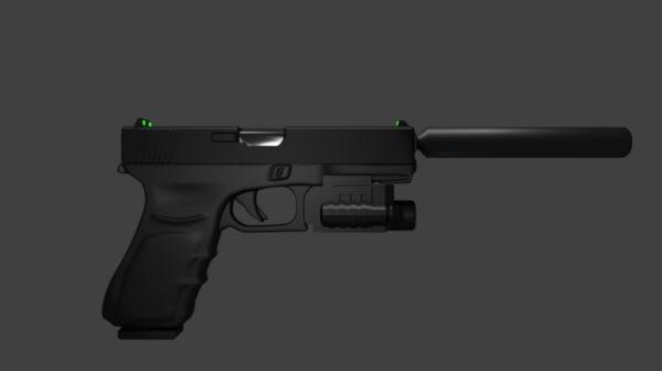 glock 18 3D model